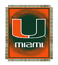 University of Miami Logo Throw