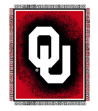 Oklahoma University Logo Throw