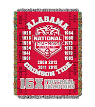University of Alabama Commemorative Throw