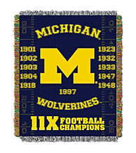 University of Michigan Commemorative Throw
