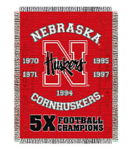 University of Nebraska Commemorative Throw