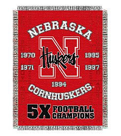 NCAA® University of Nebraska Commemorative Throw