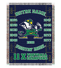 Notre Dame Commemorative Throw