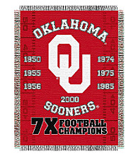 Oklahoma University Commemorative Throw