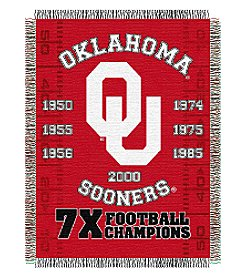 NCAA® University of Oklahoma Commemorative Throw