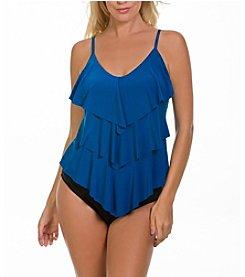 Magicsuit Solid Rita Tankini Top and Shirred Brief Bottoms