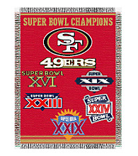 San Francisco 49ers Commemorative Throw