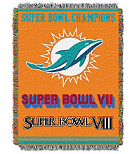 Miami Dolphins Commemorative Throw