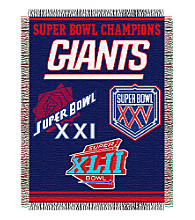 New York Giants Commemorative Throw