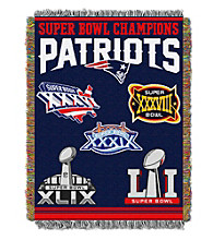 New England Patriots Commemorative Throw