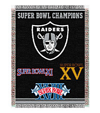Oakland Raiders Commemorative Throw