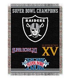 NFL® Oakland Raiders Commemorative Throw