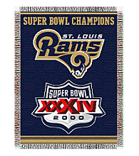 St. Louis Rams Commemorative Throw