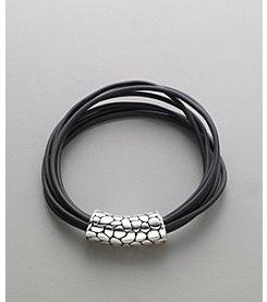 Napier® Corded Bracelet - Black/Silvertone