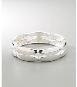 Napier® Silvertone Basics Stretch Bracelet