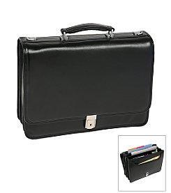 McKlein I Series River North Triple Compartment Briefcase in Black
