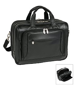 McKlein I Series West Loop Expandable Double Compartment Briefcase in Black