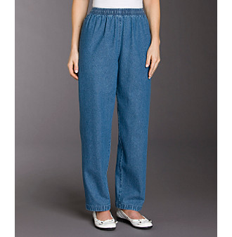 Product: Breckenridge® Petites' Pull-on Denim Pants ...