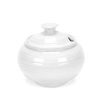 Sophie Conran for Portmeirion® White 11-oz. Covered Sugar Bowl