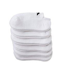 adidas® Boys' White 6-pack No-Show Socks