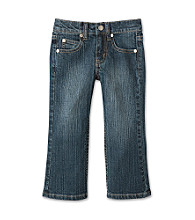 Little Miss Attitude Girls' 2T-6X Stretch Denim Jeans - Dark Wash