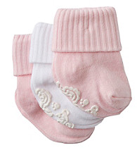Cuddle Bear® Baby Girls' Pink Gripper Booties