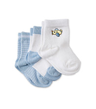 Cuddle Bear Baby Boys' 3-Pack Pattern Booties - Blue Airplane