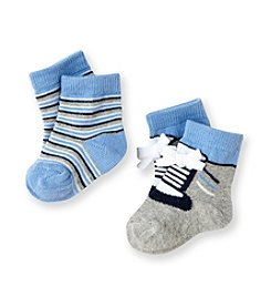 Cuddle Bear® Baby Boys' Black/Blue 2-pk. Sport Booties
