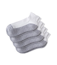 Statements Boys' 4-Pack Quarter Top Sports Socks - Grey Bottom