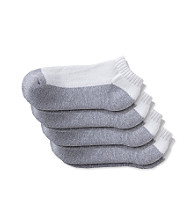 Statements Boys' 4-Pack Low Cut Sport Sock - Grey Bottom