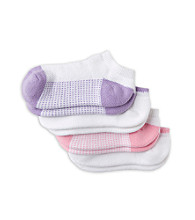 Miss Attitude Girls' 4-Pack Low Cut Cushion Mesh Sock - Pastel Combo