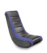Ace Bayou Adult Video Rocker with Mesh Racing Stripe - Black/Blue