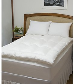 Comfort Touch™ Baffled Featherbed with Free Pillows
