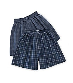 Jockey® Boys' Navy 2-pk. Plaid Woven Boxers