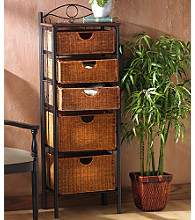 Holly & Martin™ Argyle Iron & Wicker Five-drawer Unit