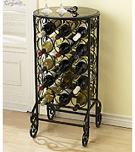 Holly & Martin™ Monterey Glass Top Wine Table