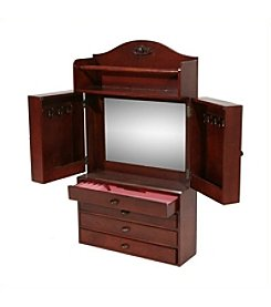 Southern Enterprises Evangeline Wall Mount Jewelry Armoire