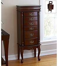 Holly & Martin™ Amelia Medium Mahogany Finish Jewelry Armoire