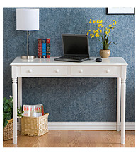 Holly & Martin™ White 2-Drawer Parker Writing Desk