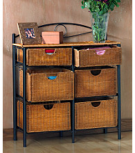 Holly & Martin™ Lillian Iron/Wicker Storage Chest