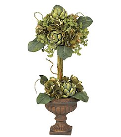 Nearly Natural® Artichoke Topiary Silk Flower Arrangement