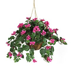 Nearly Natural® Bouganvillea Hanging Basket Silk Plant