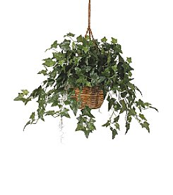 Nearly Natural® English Ivy Hanging Basket Silk Plant