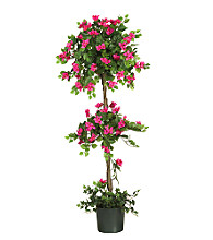 Nearly Natural 5' Bouganvillea Topiary Silk Tree