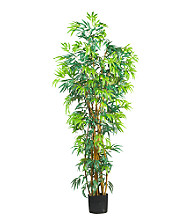 Nearly Natural® 6' Curved Trunk Bamboo Silk Tree