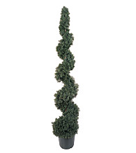 Nearly Natural 5' Cedar Indoor/Outdoor Spiral Silk Tree