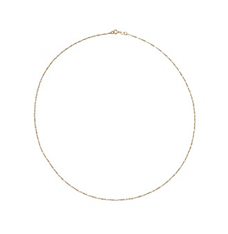 Danecraft 24K Gold-Over-Sterling Silver Serpentine Twist Chain Necklace