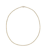 24K Gold-Over-Sterling Silver Corda Chain