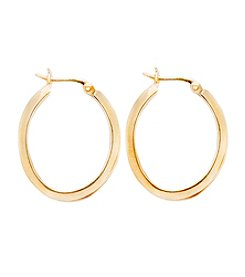 Danecraft 24K Gold-Over-Sterling Silver Clicktop Hoop Earrings
