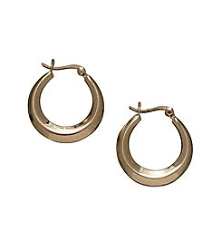 24K Gold-Over-Sterling Silver Knife Edge Hoop Earrings